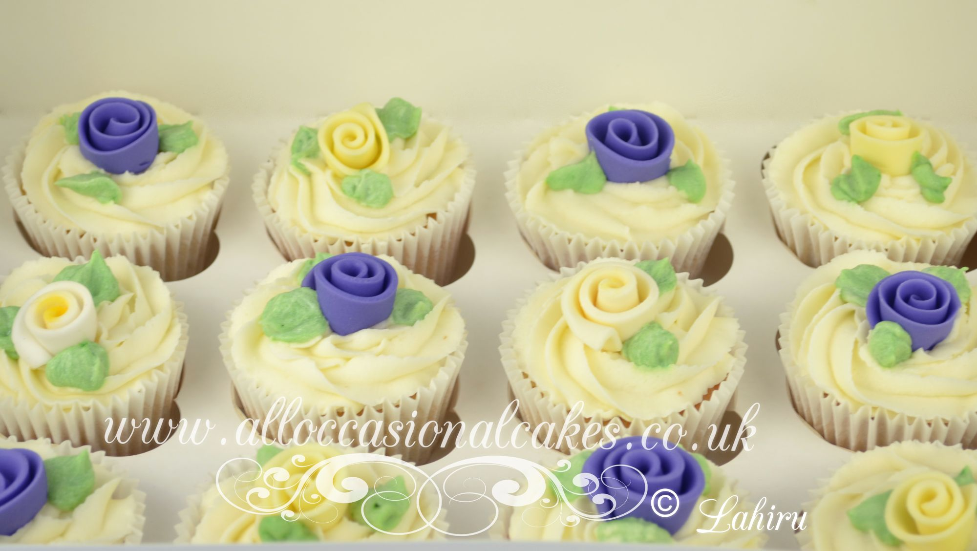 lilac and yellow rose cup