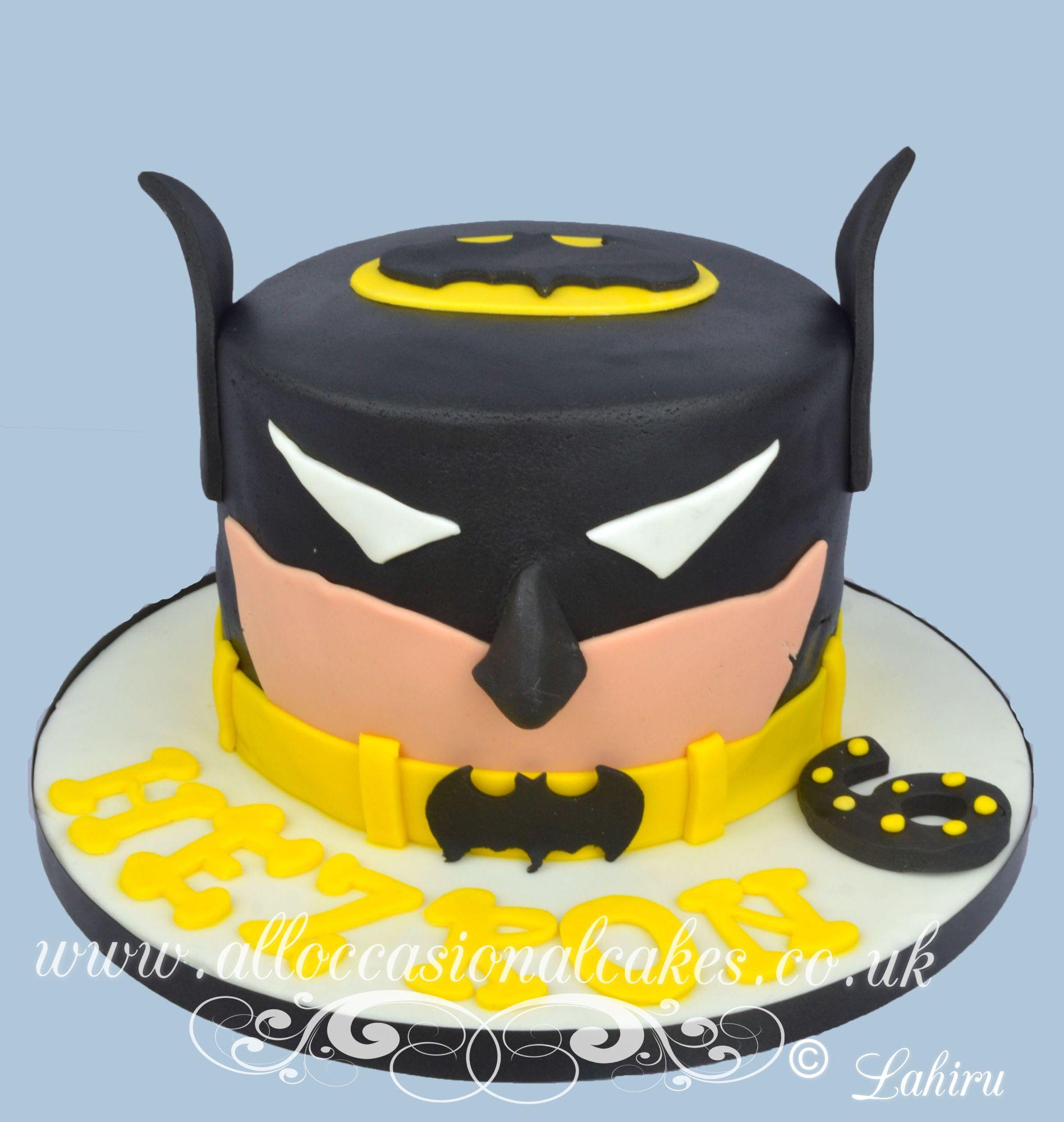 batman superhero themed birthday cake