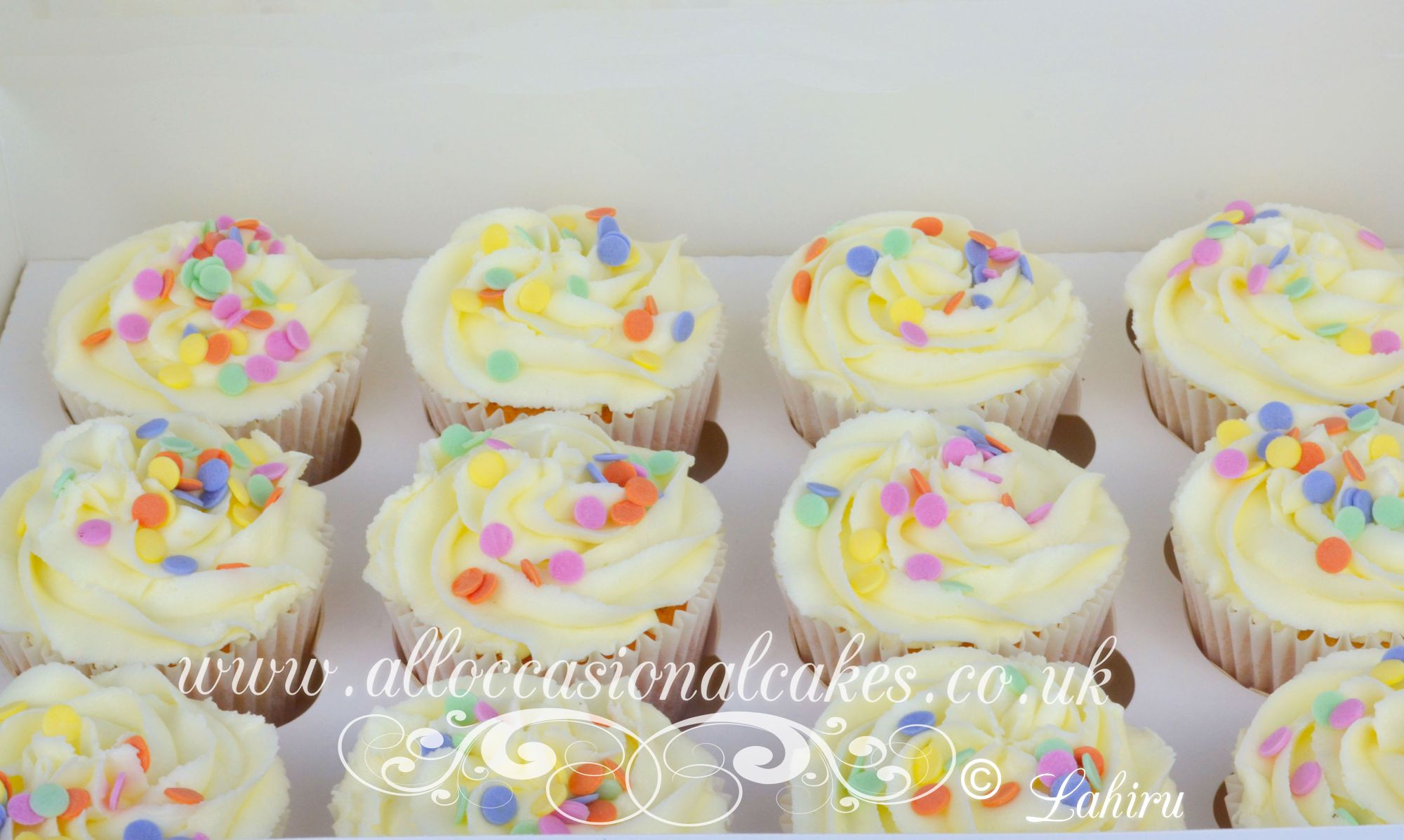 cupcakes colourful sprinkles