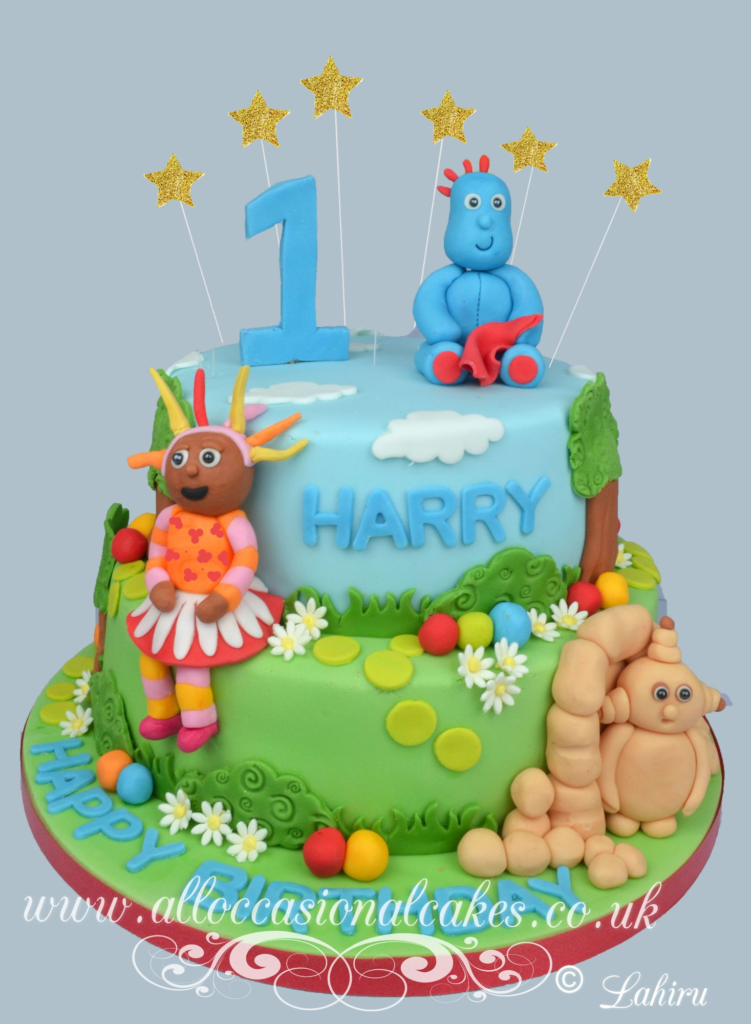 In the night garden 2 tier birthday cake