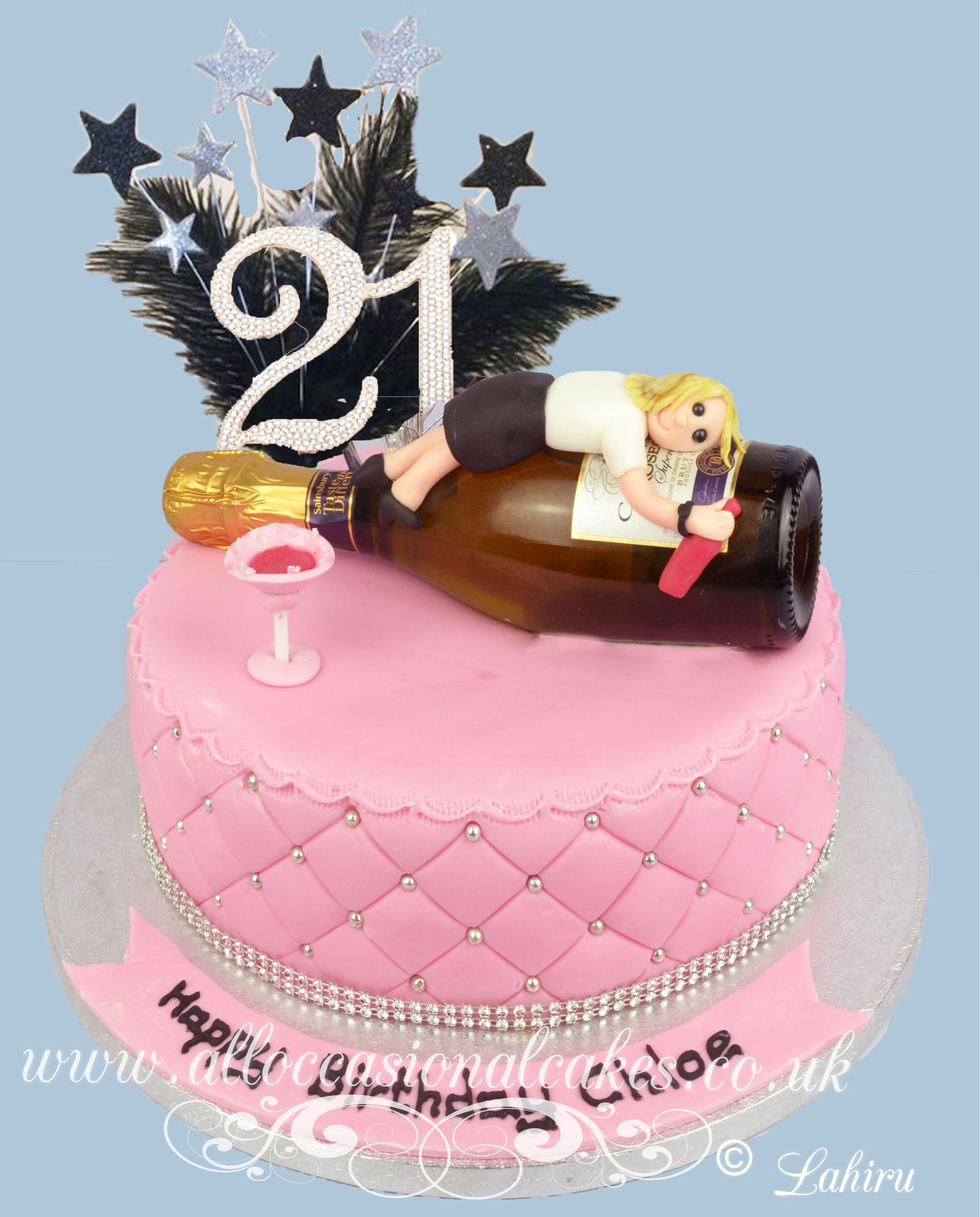 drunk girl 21st birthday cake
