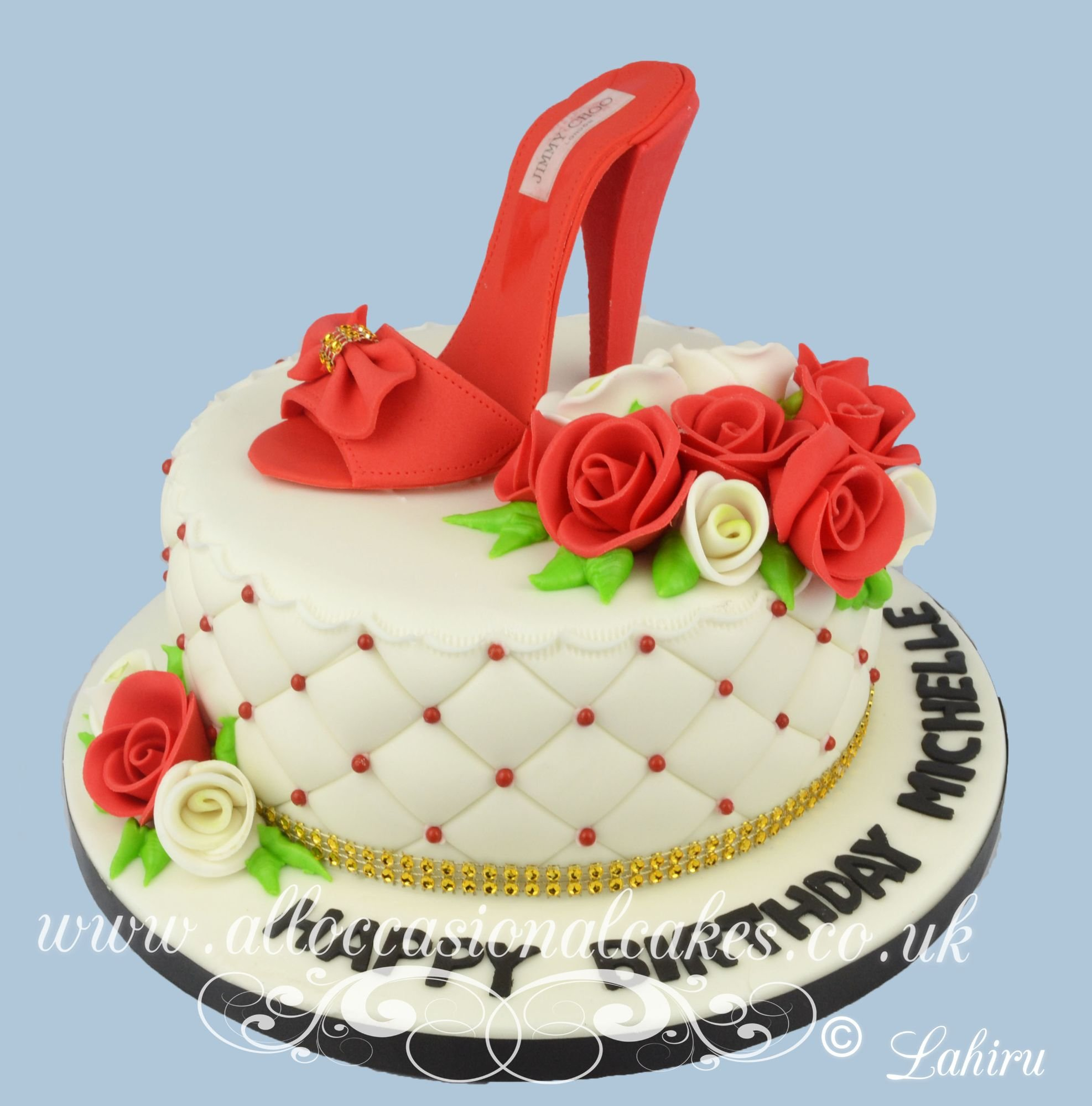 red high heel birthday cake