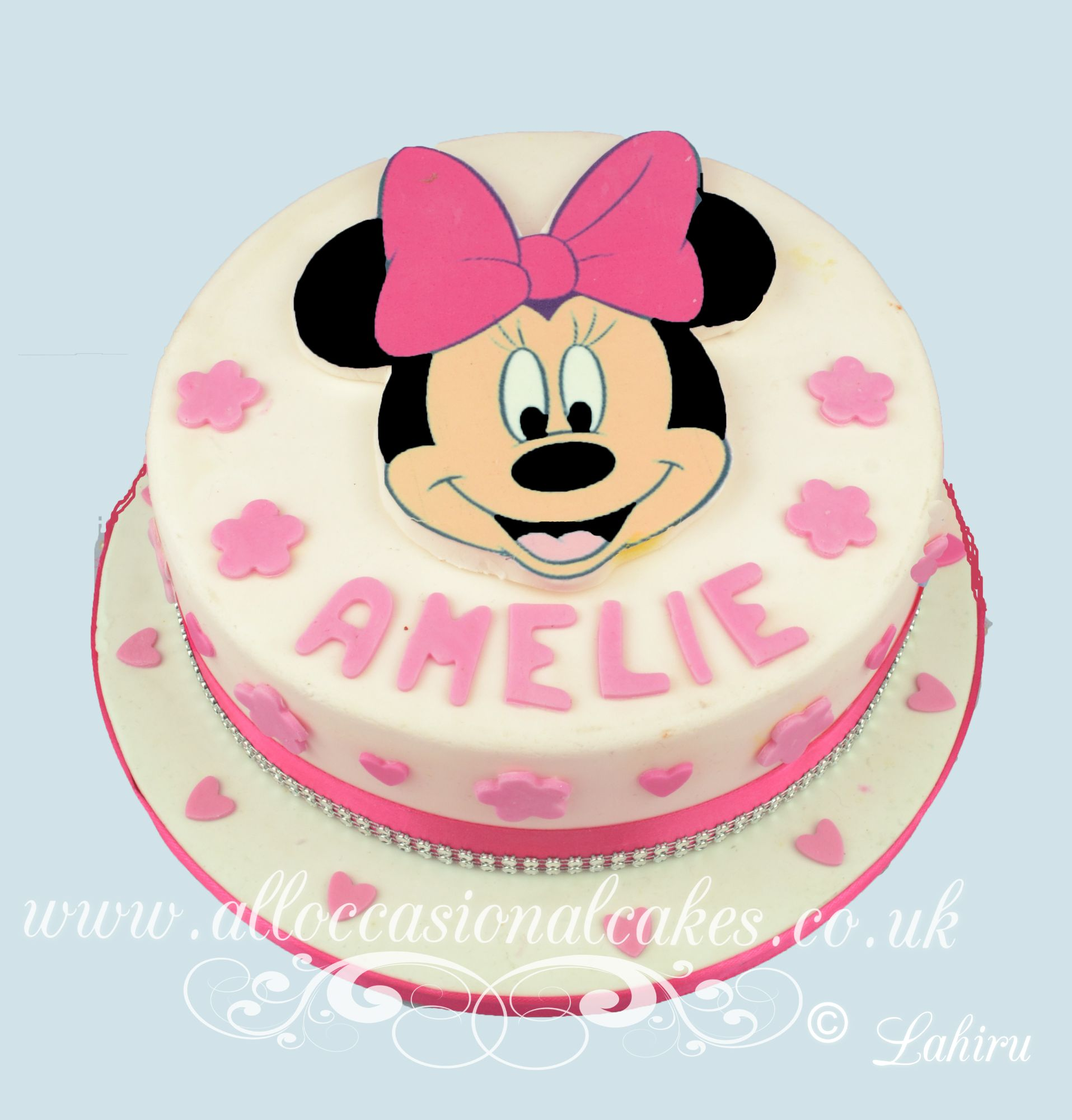 baby shower polka dot cak