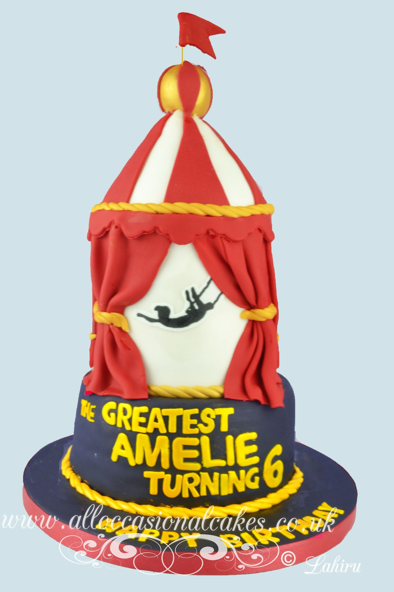 The greatest showman themed cake