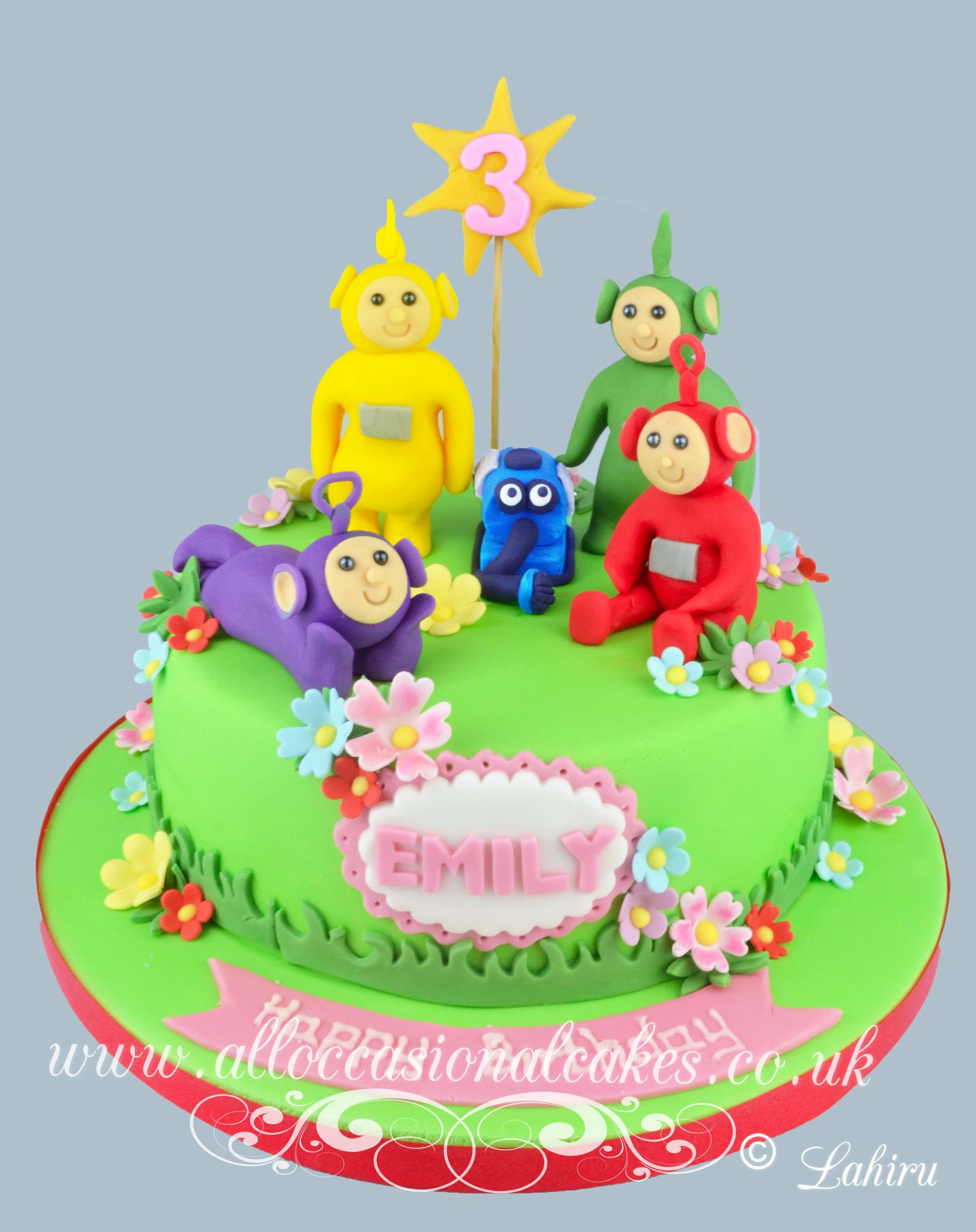 teletubbies theme birthday cake