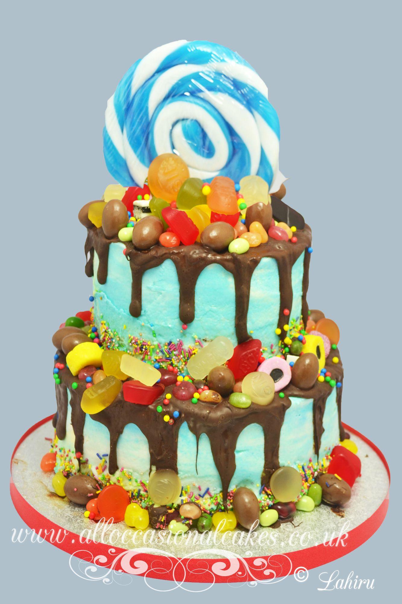 sweet candy themed birthday cake