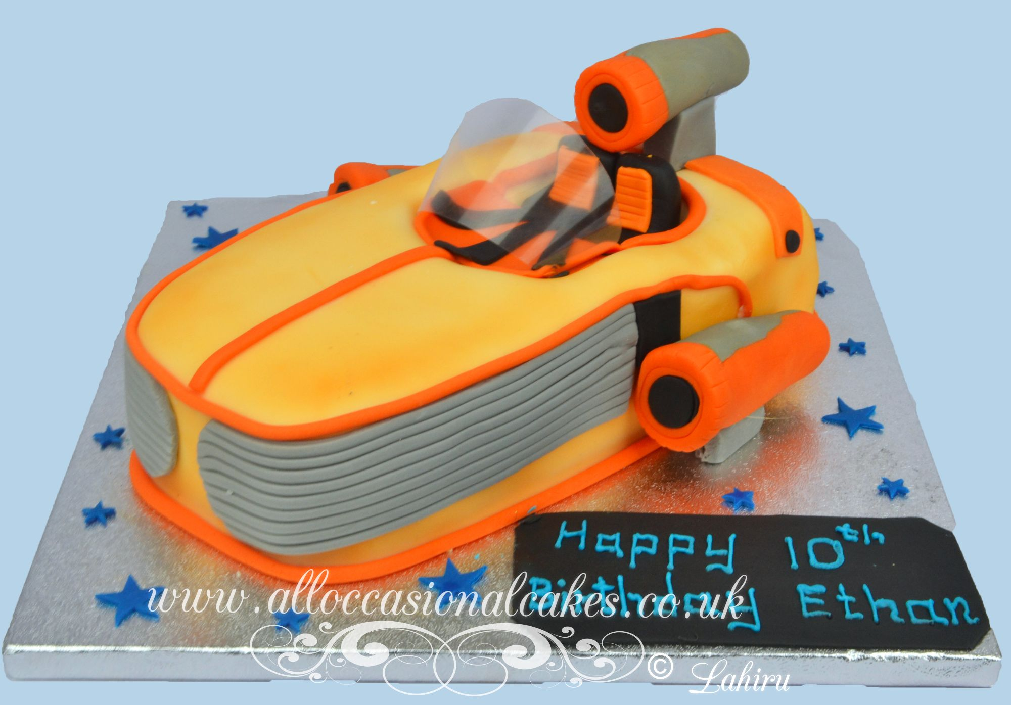 road speeder birthday cake