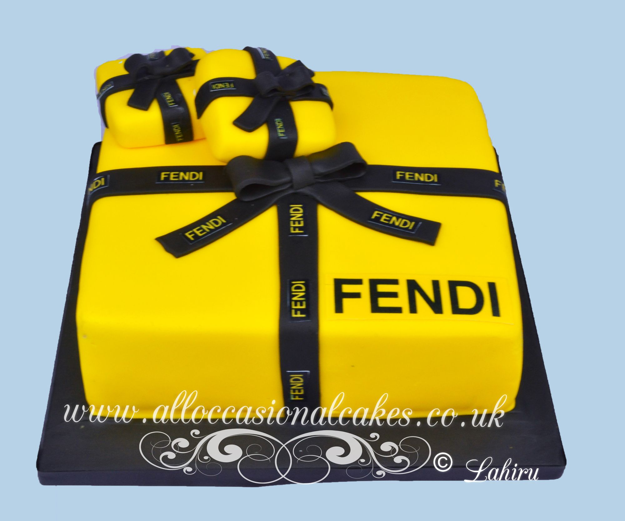 fendi themed cake