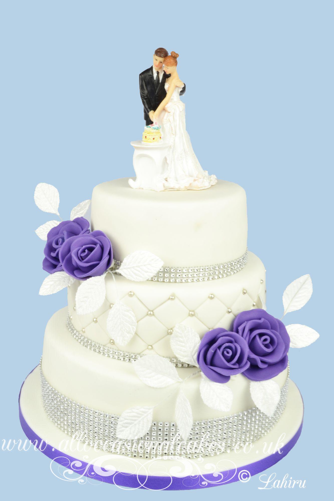 cadbury colour rose  wedding cake bristol