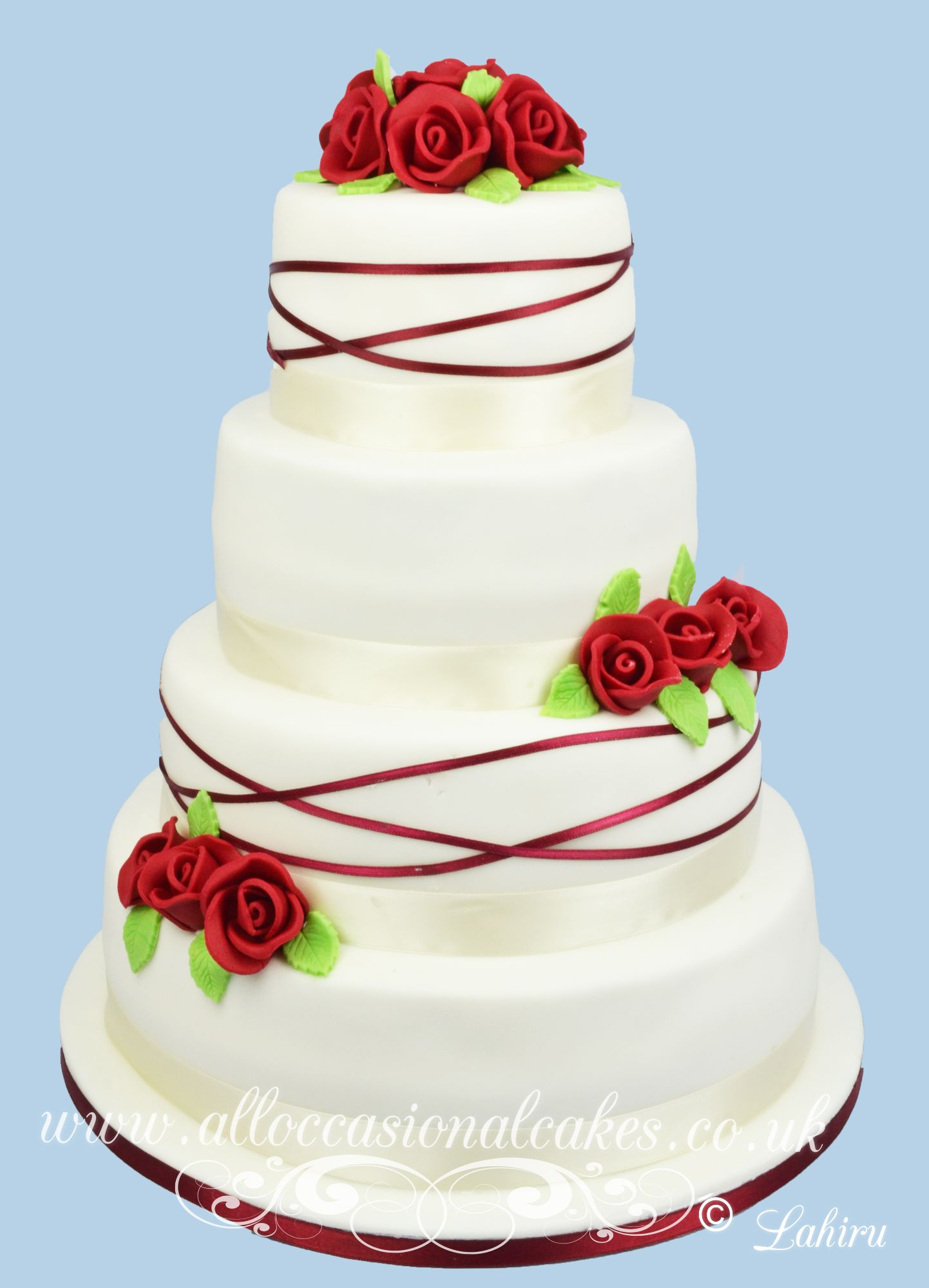 ruby rose wedding cake