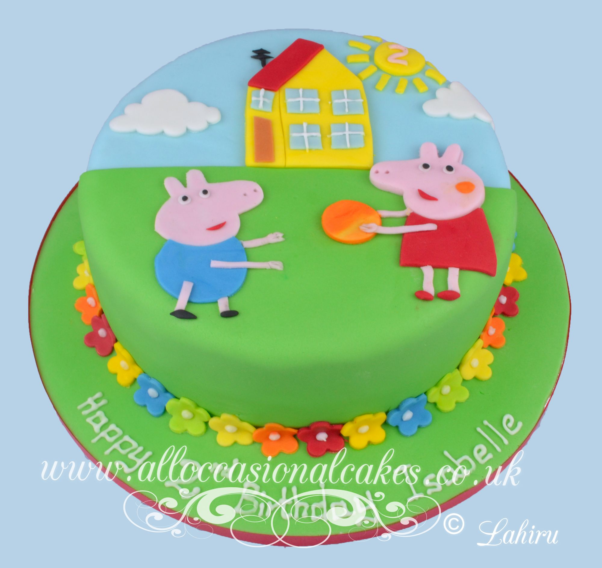 pepper pig  birthday cake