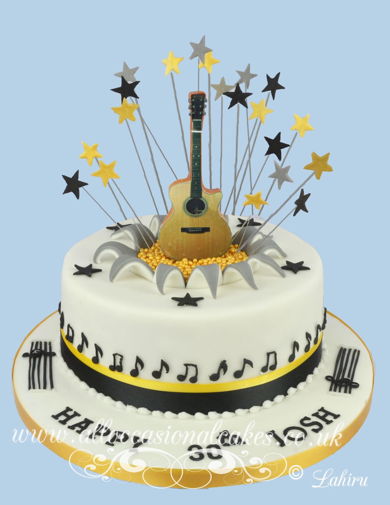 guitar themed birthday cake
