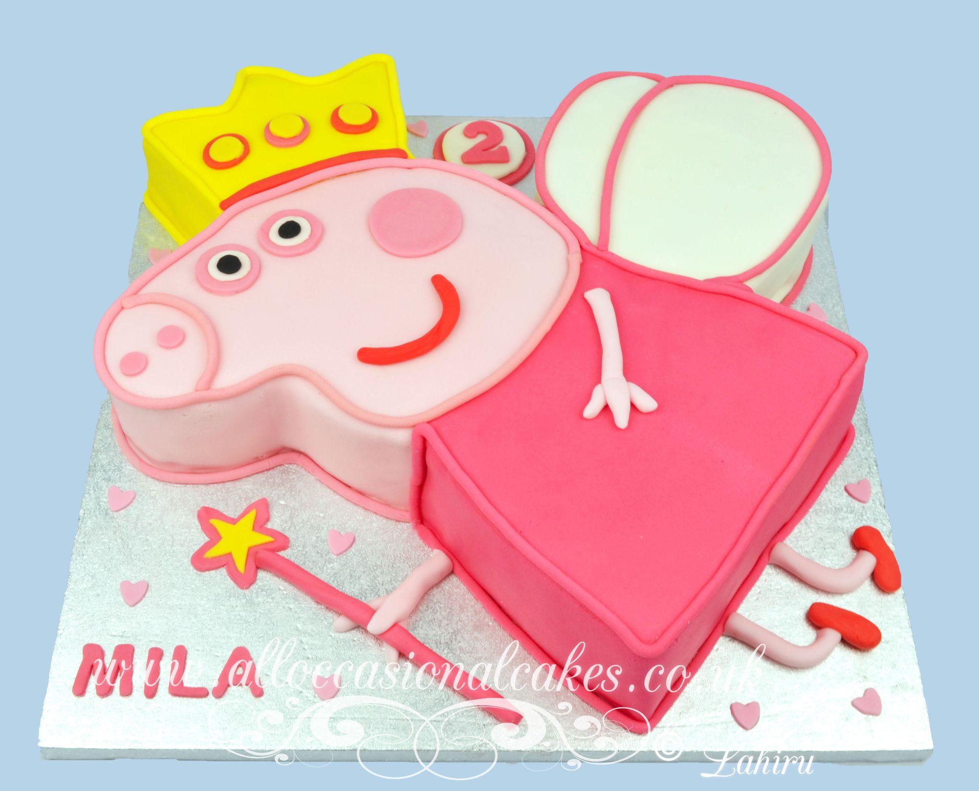 peppa pig theme birthday cake