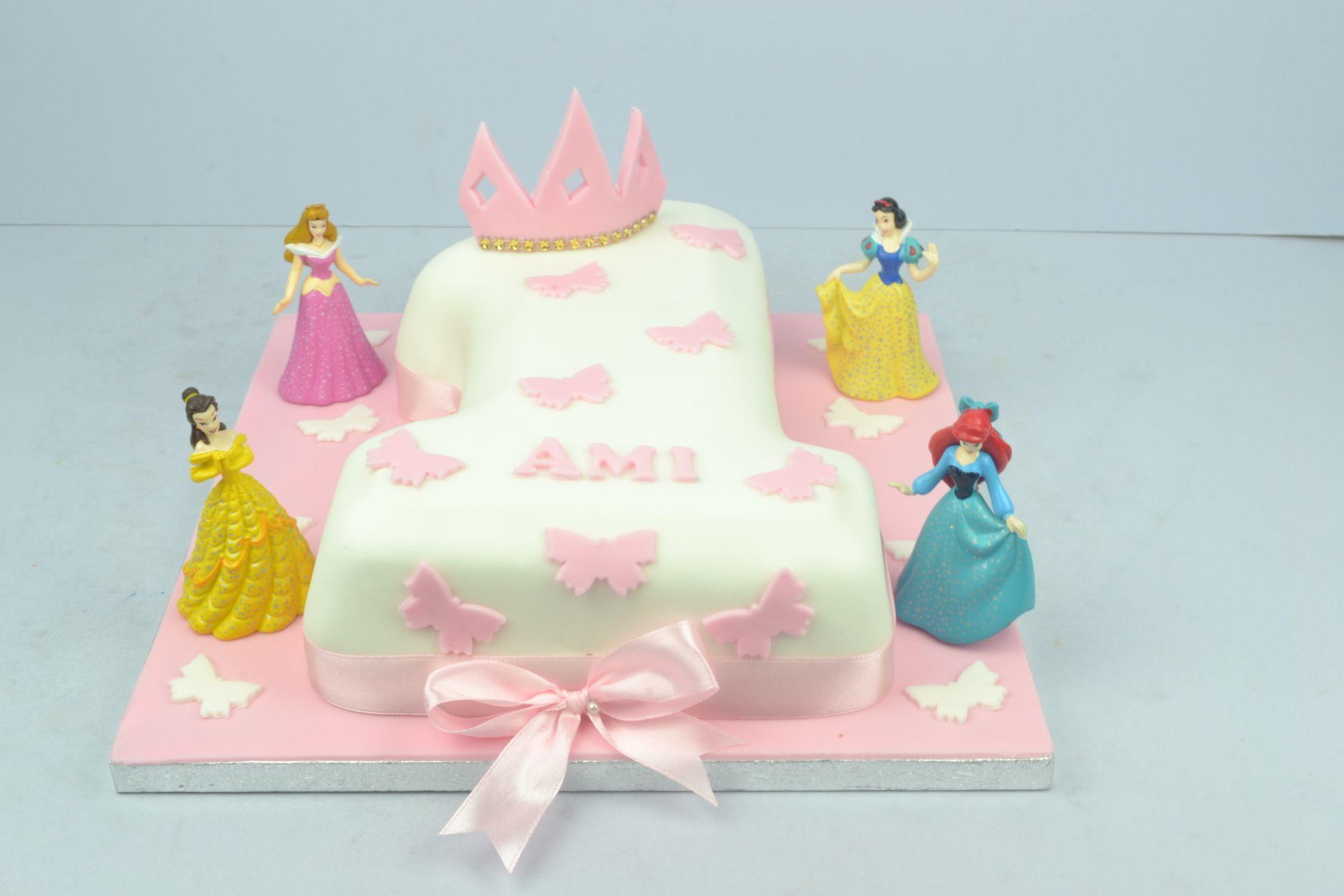princess themed no1 cake