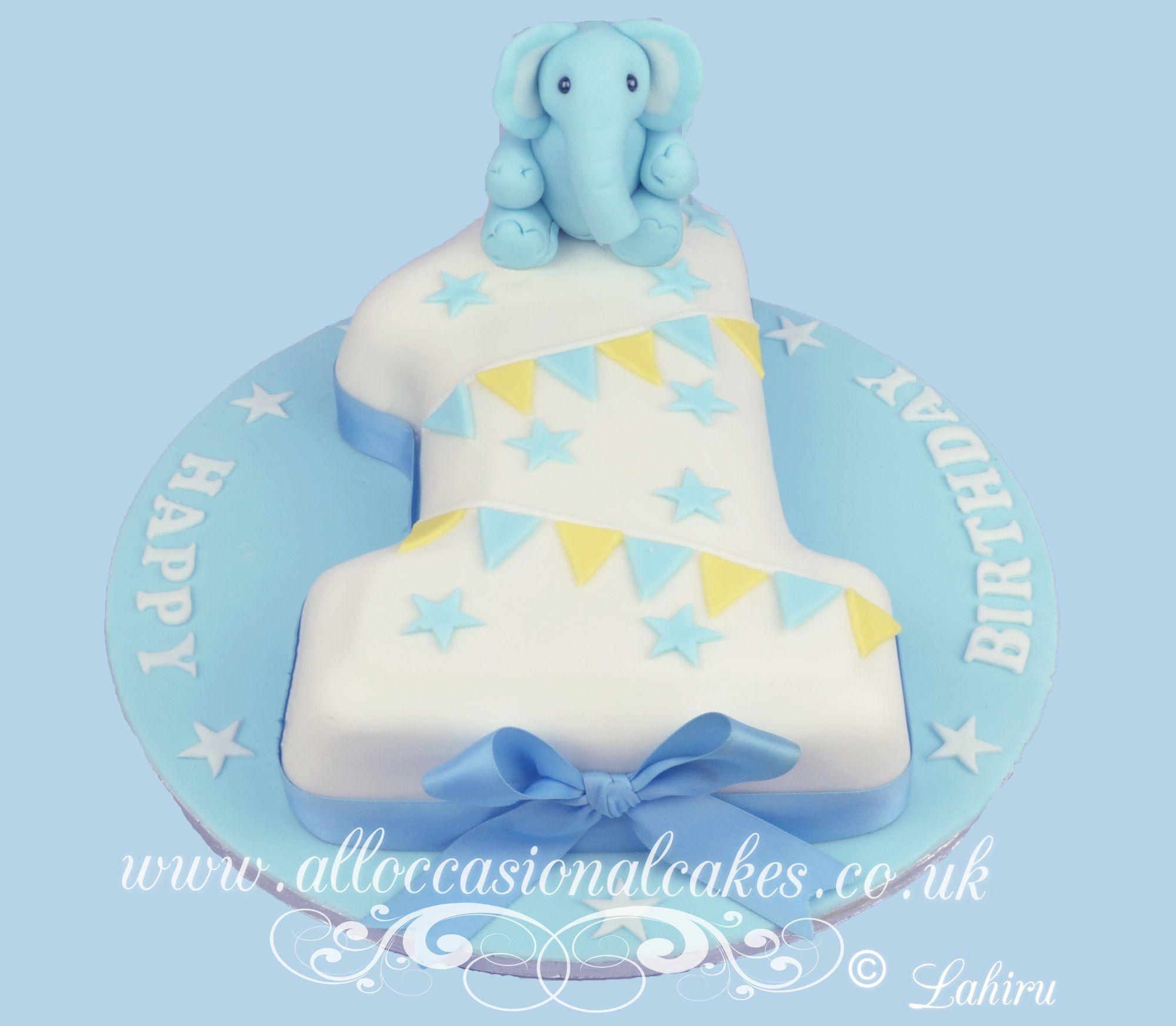 baby elephant  no 1 cake