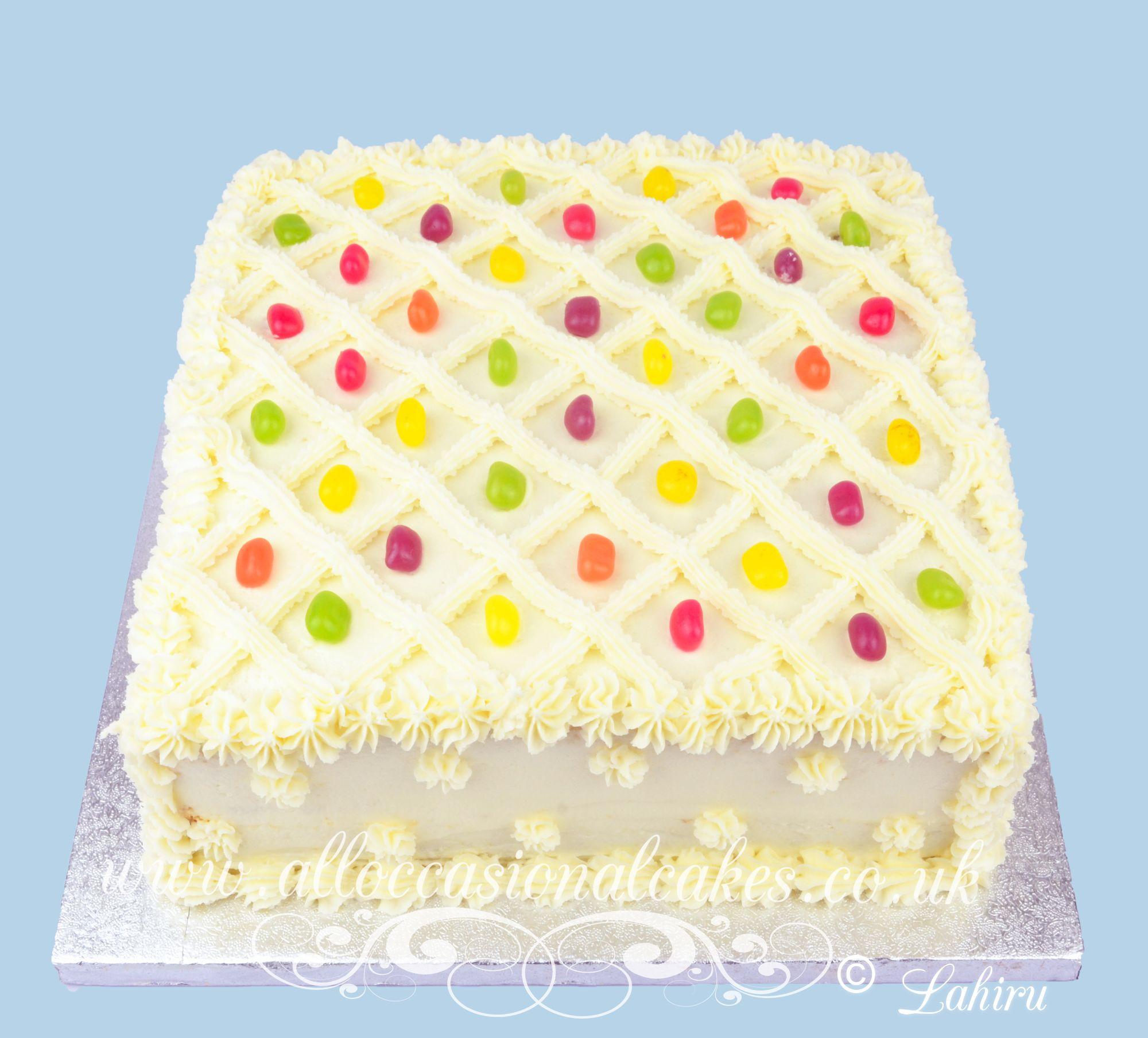jelly bean design cake