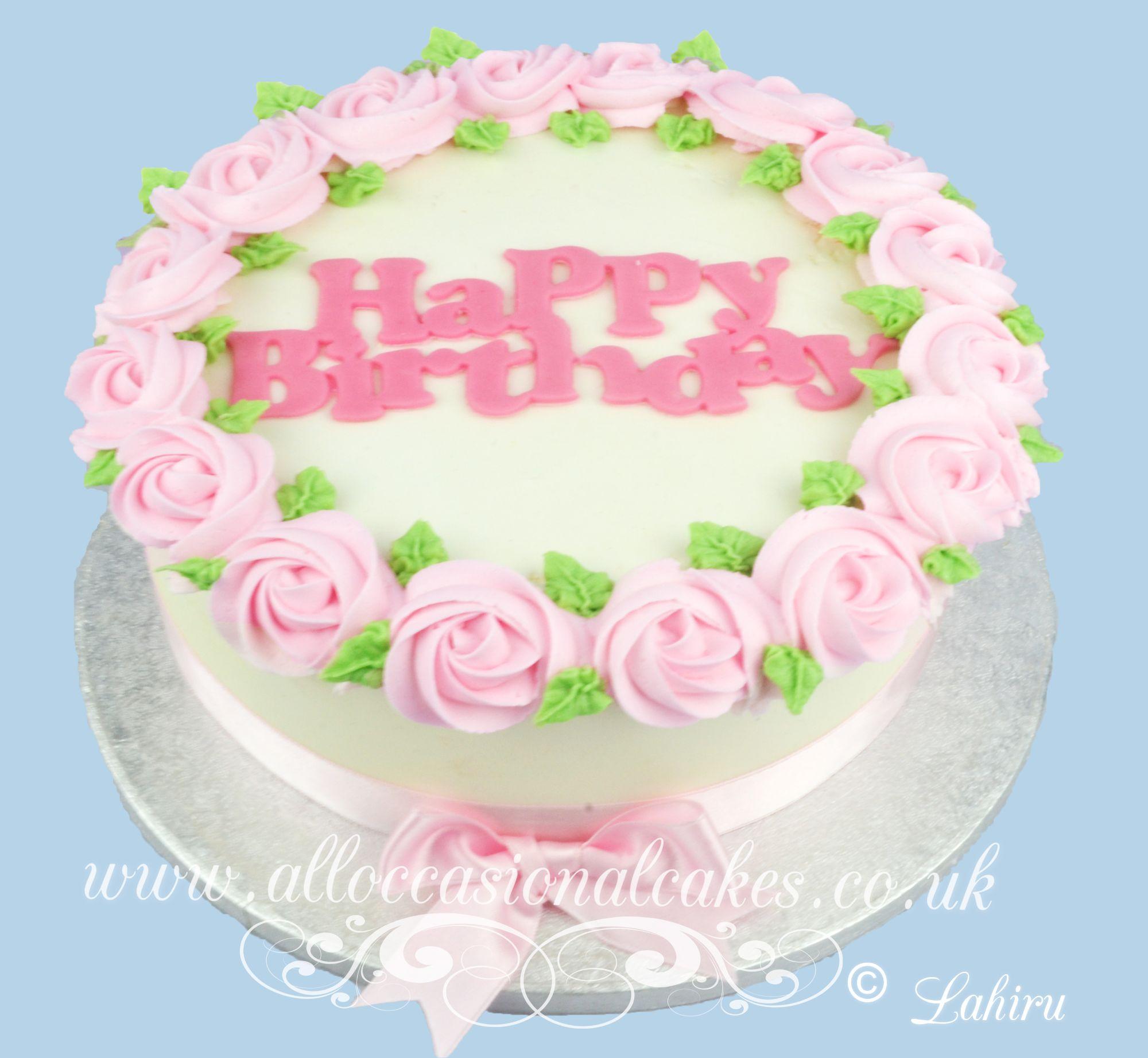 pink butter cream rose