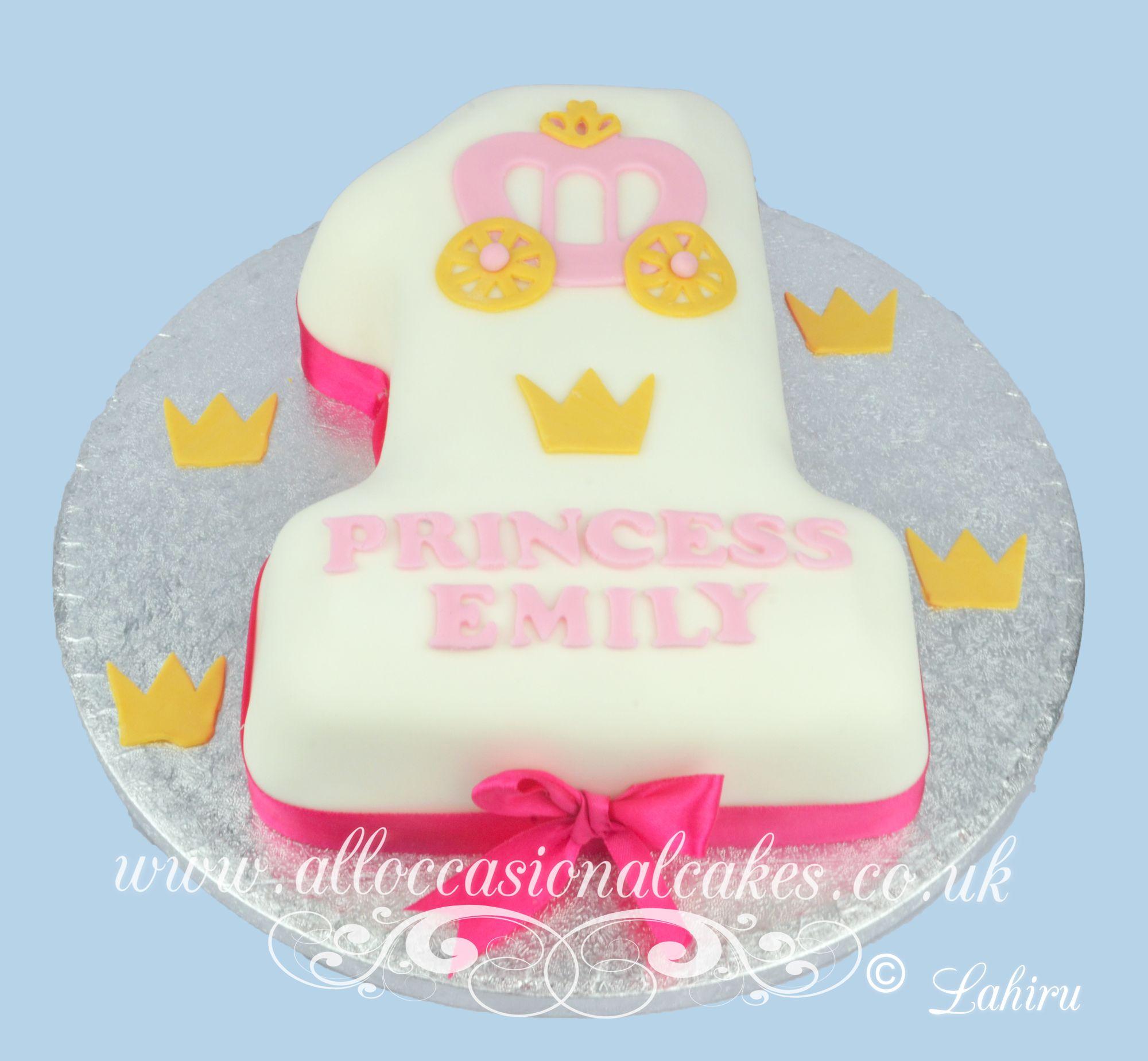 princess cart 1sst birthday cake 2