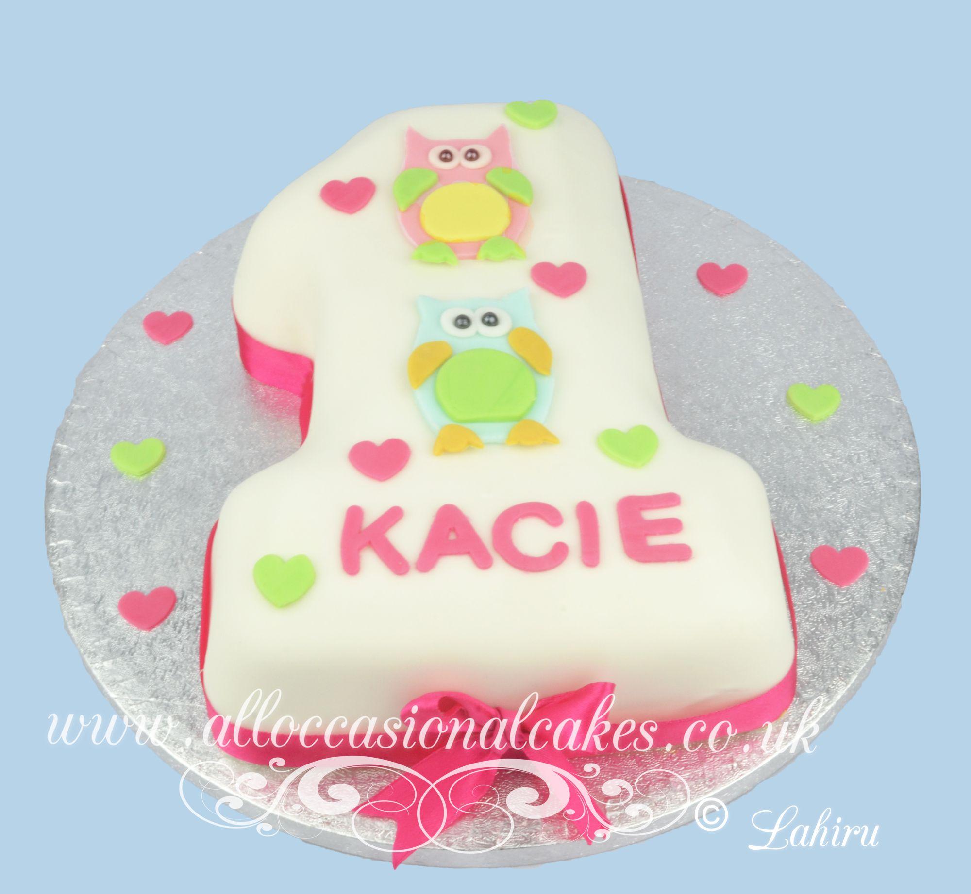 Owl 1st birthday cake 2