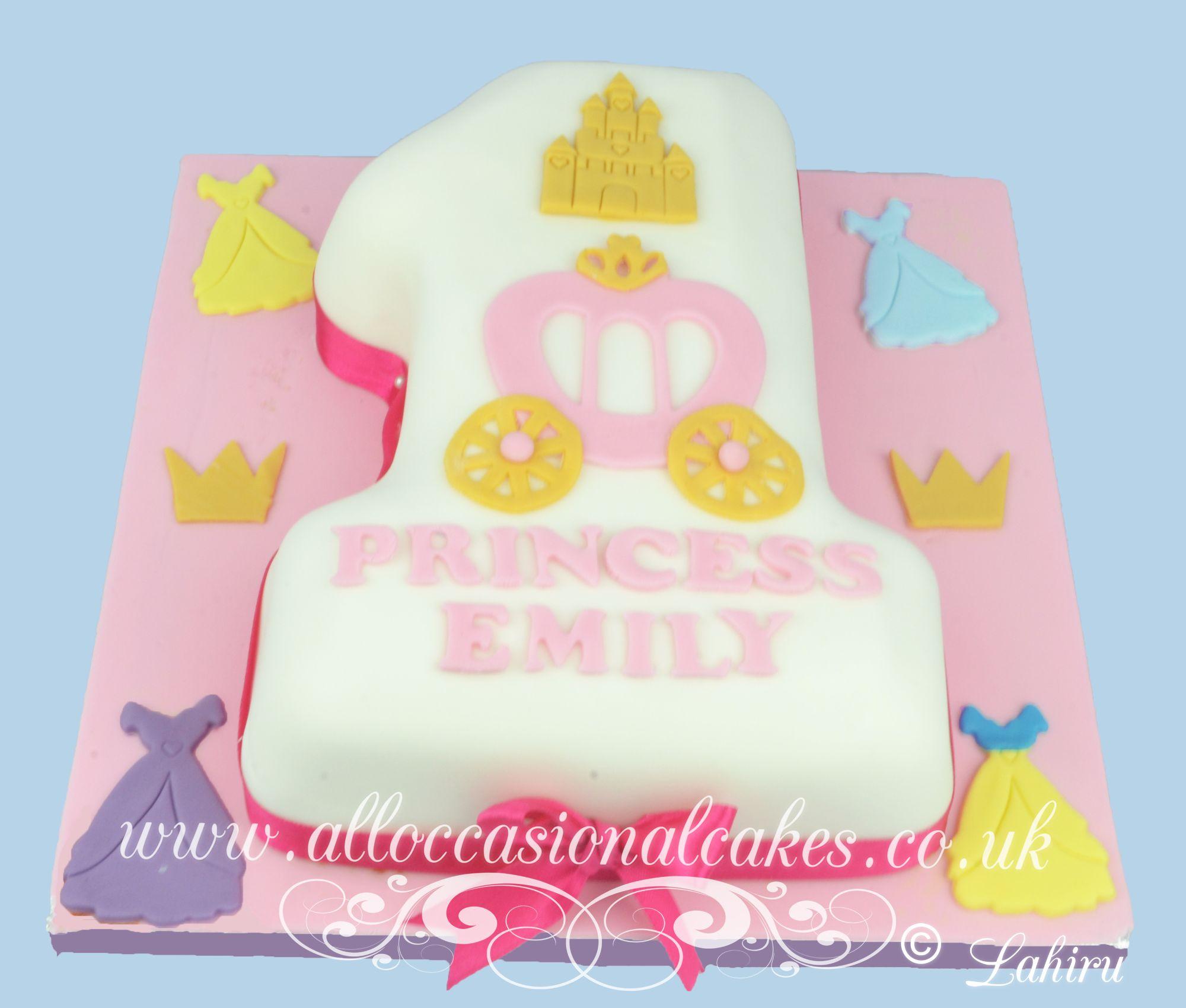 princess cart 1sst birthday cake