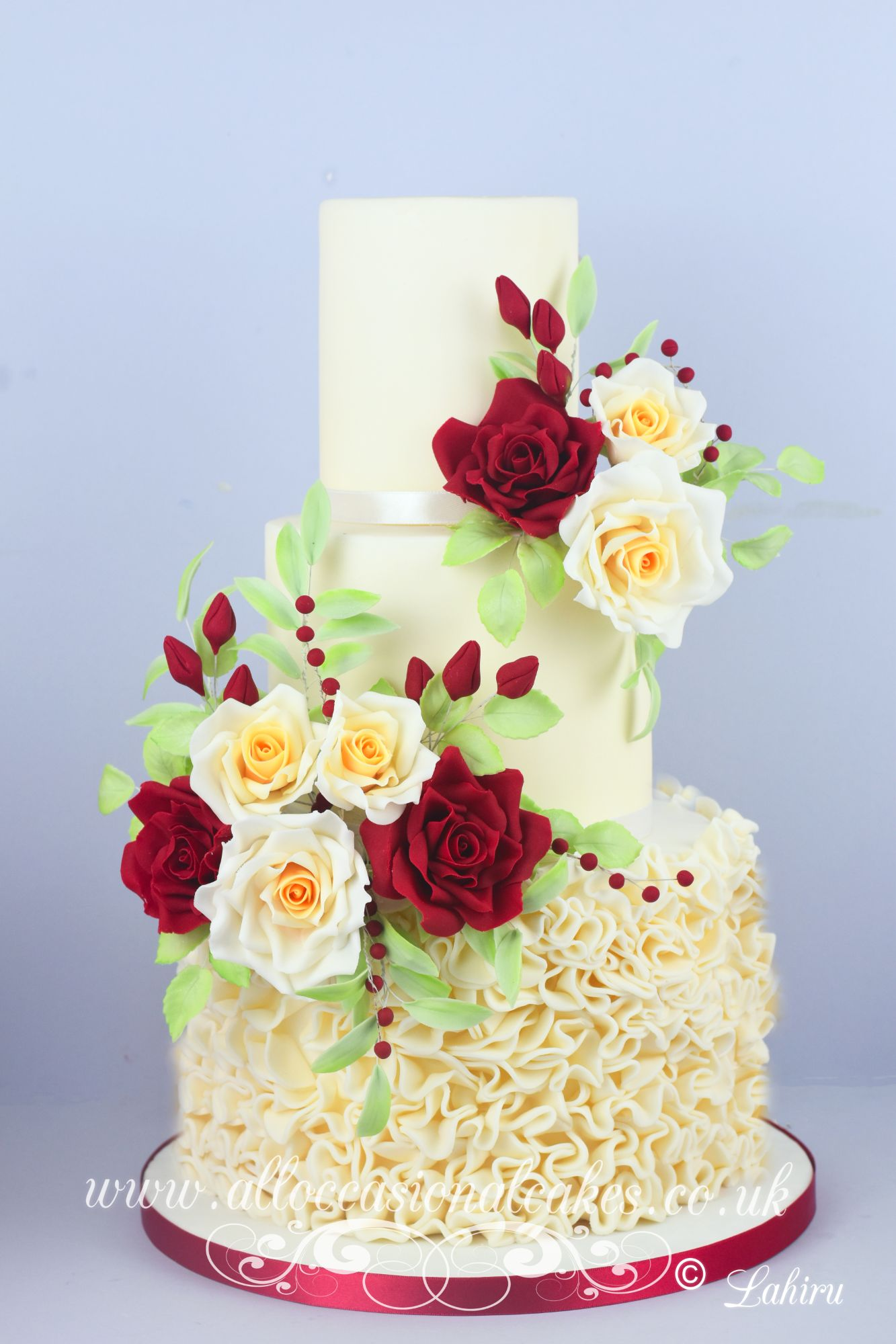 ruby wedding cake ,Wedding cakes baker Bristol
