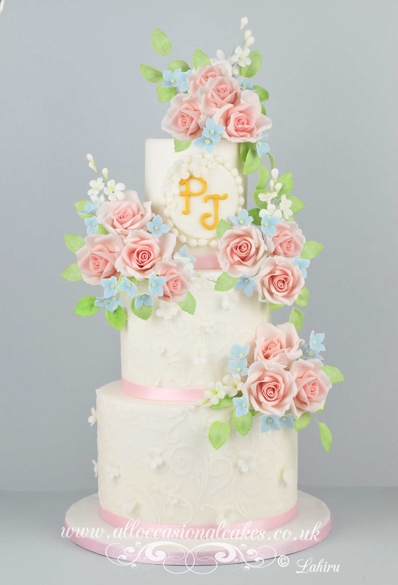 creamy peach wedding cake,Wedding cakes Downend