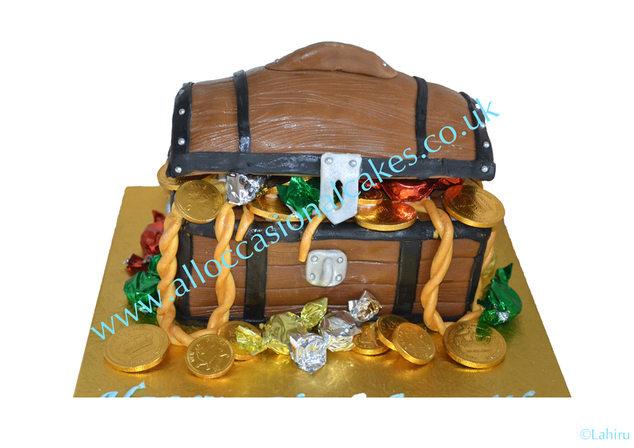 Treasure Box birthday cake