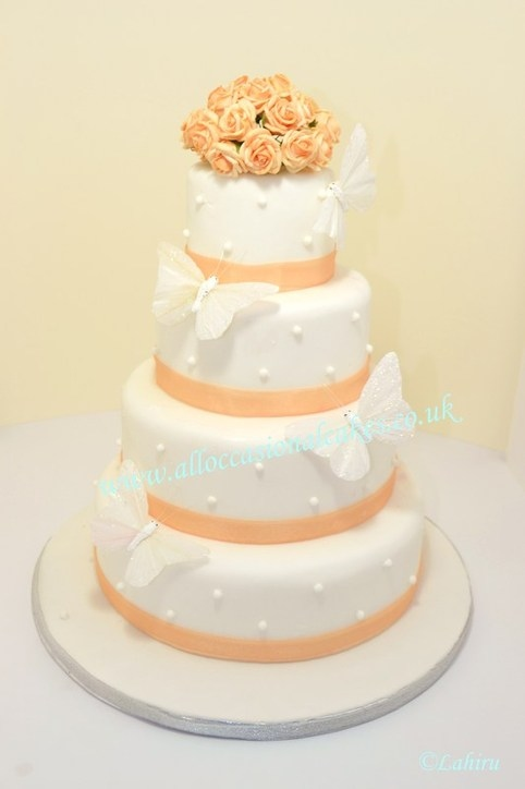 Pearl Butterfly Wedding Cake Professional Wedding Cake Makers And