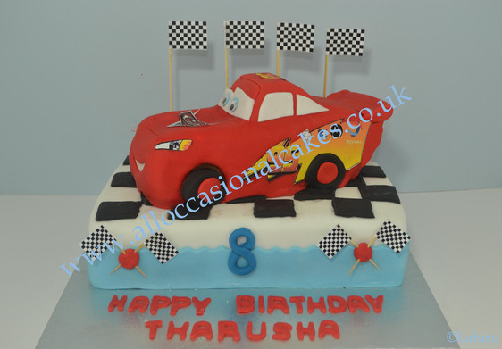 mcqueen car birthday cake