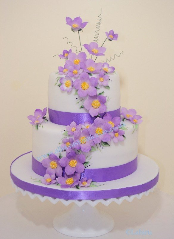 Purple blossom 2 tier