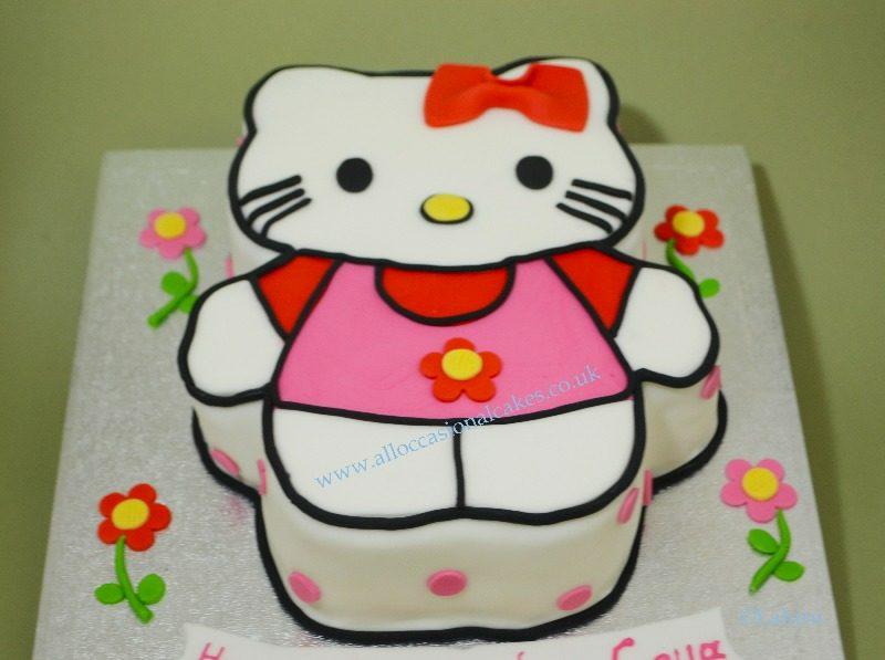 hello kitty them birthday cake