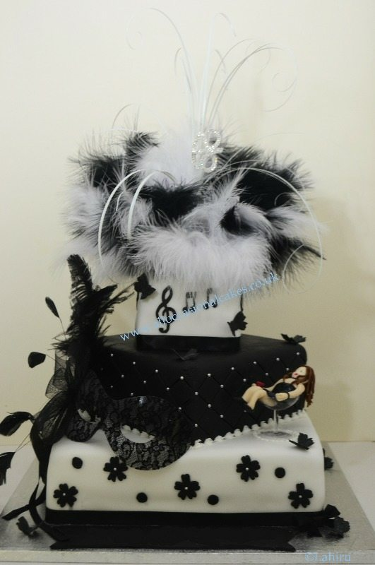 fifty shades of grey themed cake