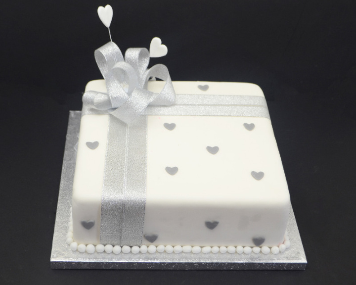 Cake designs for silver wedding anniversary ~ perfectend for .