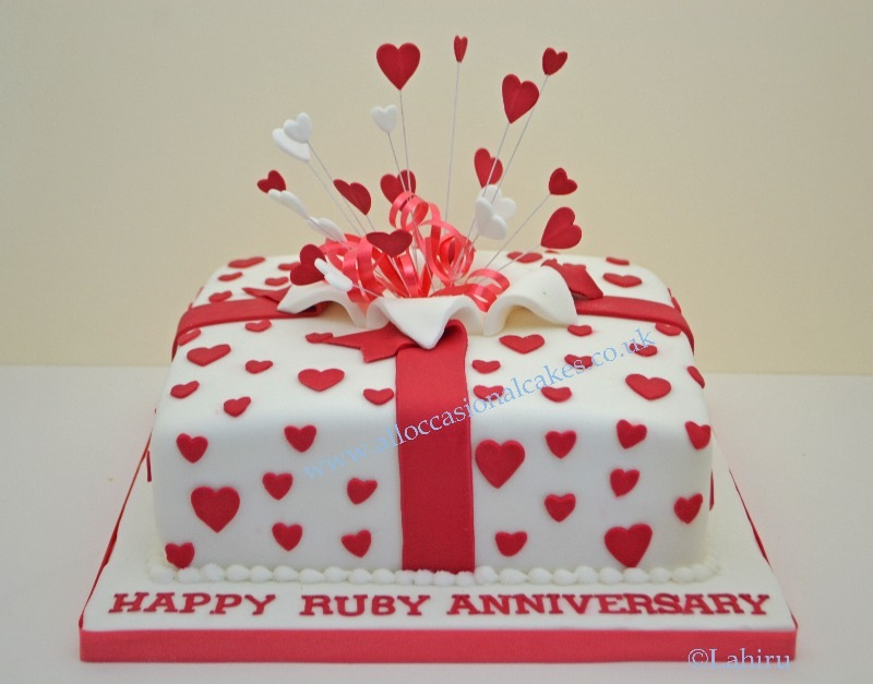 designs for ruby wedding cakes bristol anniversary cakes emersons green anniversary 13479