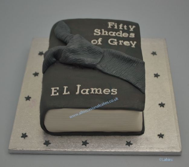fifty shades of grey book cake