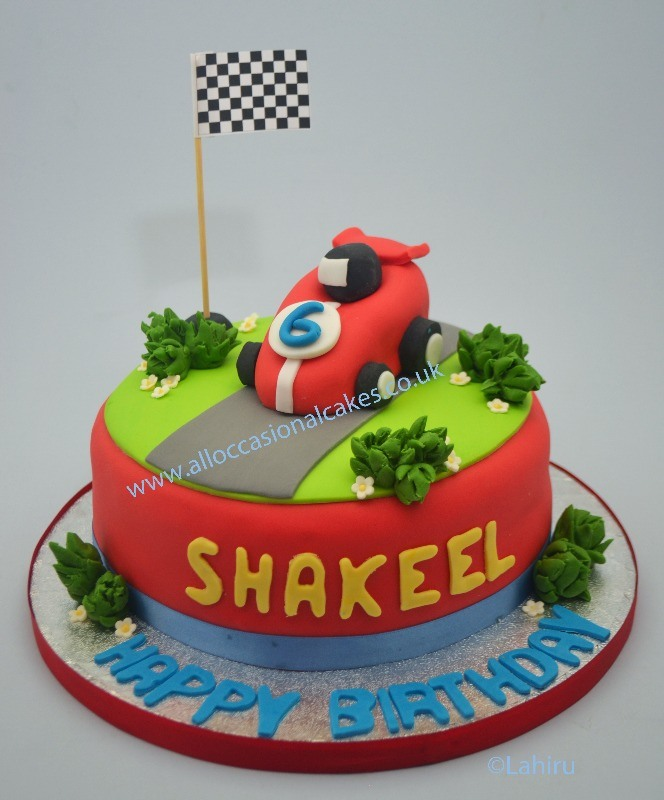 red car birthday cake