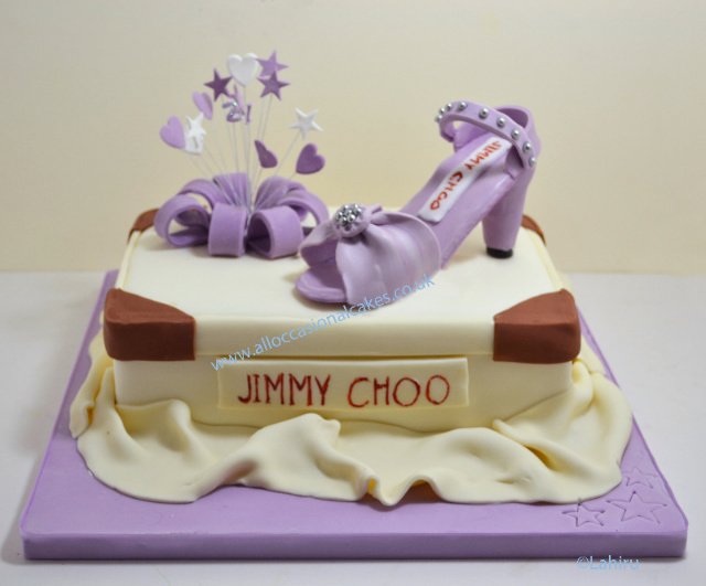 jimmy choo shoe box birthday cake