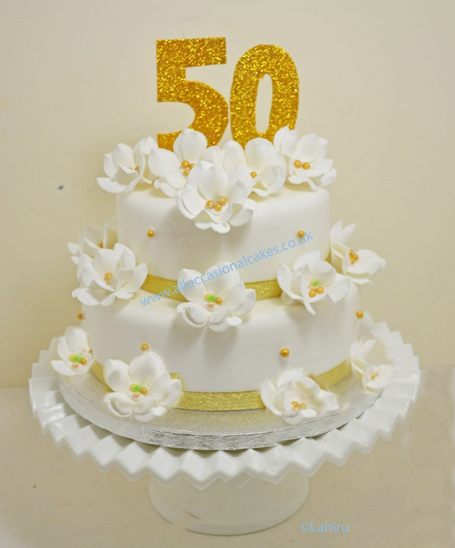 50th Anniversary Cake 2 Tier From GBP75