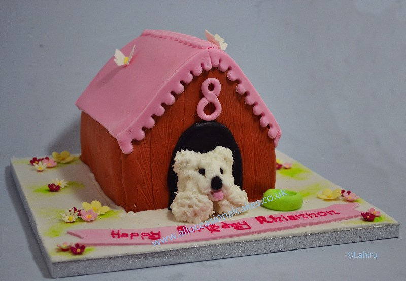dog kennel birthday cake