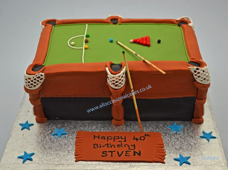 pool table birthday cake for dad
