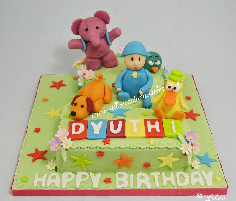 pocoyo no 2 birthday cake