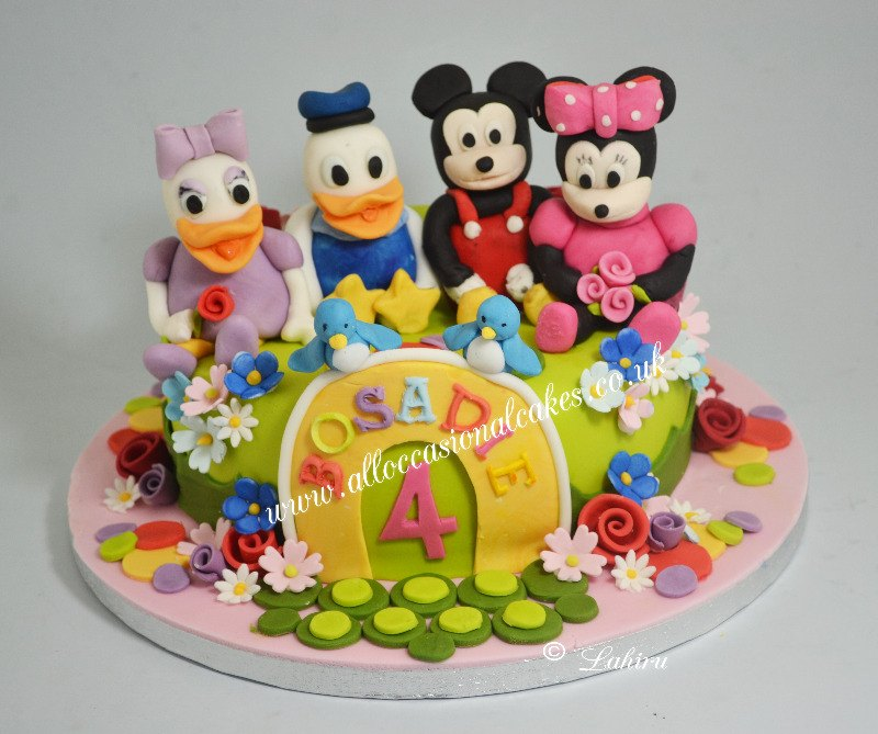 disney friends birthday cake