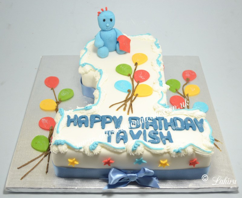 iggle piggle with balloon cake
