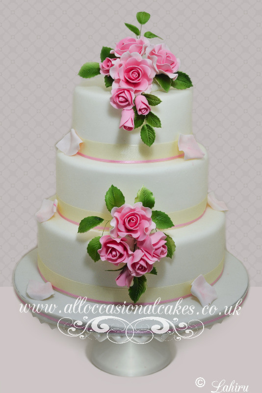 Sugar Rose Cake Design : Bristol wedding cakes, Bath wedding cakes, Yate wedding ...