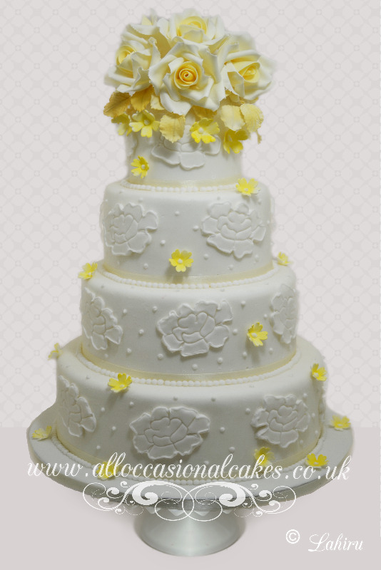 Lemon Yellow Roses on Top Wedding Cake, bristol wedding cakes, cakes pictures, magic wedding cakes,  uk cakes, uk wedding cakes, emersons green wedding cakes, cheap cakes, best cakes, international wedding cakes, international cakes, egg free cakes, egg less cakes, downend cakes, king cakes, downend wedding cakes, colourful cakes, all occasional cakes, cakes for all occasions, tasty wedding cakes, golden wedding cakes, sweet wedding cakes, anniversary cakes, sri lankan wedding,  wedding cakes, england wedding cakes, england cakes, birthday cakes, google cakes, winter cakes, snow cakes, topsy turvy cakes, cascade, cheap cakes, cheap wedding cakes, special wedding cakes, best cakes, uk, cakes, cake, cake makers, weddings, wedding, bristol, bristoluk, bath, bathuk, novelty cake, novelty cakes, unique cake, unique cakes, custom cake, custom cakes, birthday cake, birthday cakes, wedding cake, wedding cakes, corporate cake, corporate cakes, winning wedding cakes, winning cakes, yate wedding cakes, filton wedding cakes, clifton wedding cakes, winterbourne wedding cakes, London wedding cakes, royal wedding cakes, bristol wedding cakes, wedding cakes Bristol, wedding cake Bristol, Asian wedding cakes, indian wedding cakes, expensive cakes, expensive wedding cakes, rich wedding cakes, royal wedding cakes, rich cakes, gold wedding cakes, 24k wedding cakes, tasty wedding cakes, royal wedding cakes, queen wedding cakes, queen birthday cake, king's wedding cakes, Kings birthday cakes, prince wedding cakes, prince birthday cakes, best cakes, love cake, magic cakes, cake, fairy cakes, hot cakes, cupcakes, cupcake cakes, fondant cakes, cupcakes, my ace cakes of uk, cakes Sri Lanka, fab cakes, cakes sri lanka, south Gloucestershire, cake decoration, catering for weddings, Lahiru Peiris,