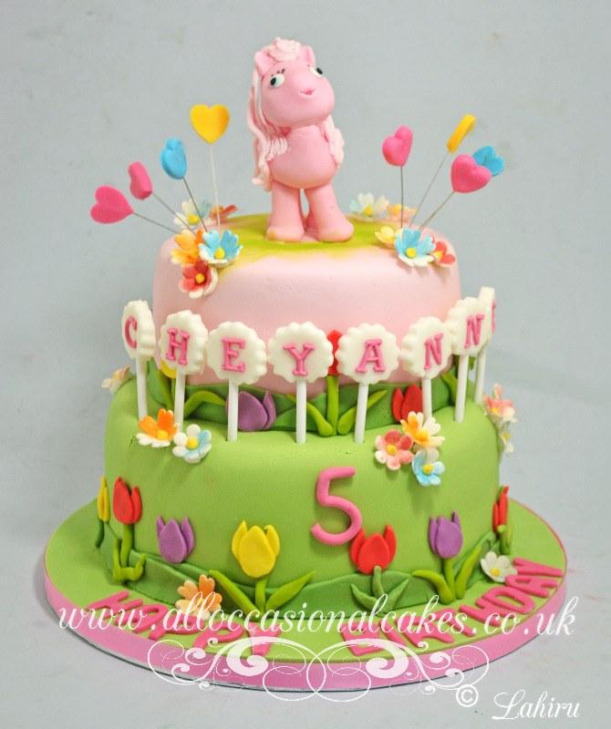 my little pony themed birthday cake