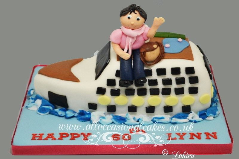 cruise ship birthday cake for her