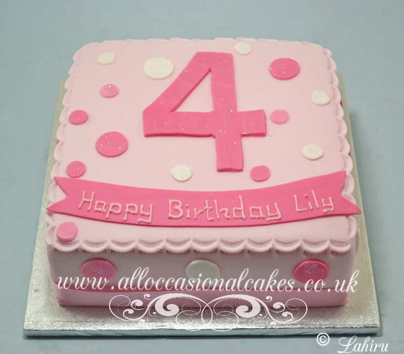 polka dots birthday cake