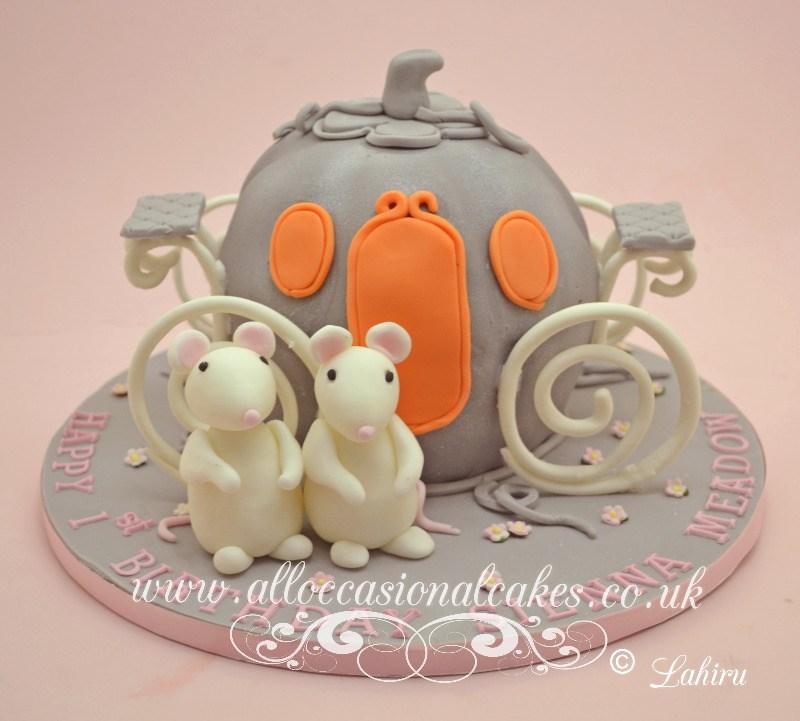 Princess pumpkin carriage cake