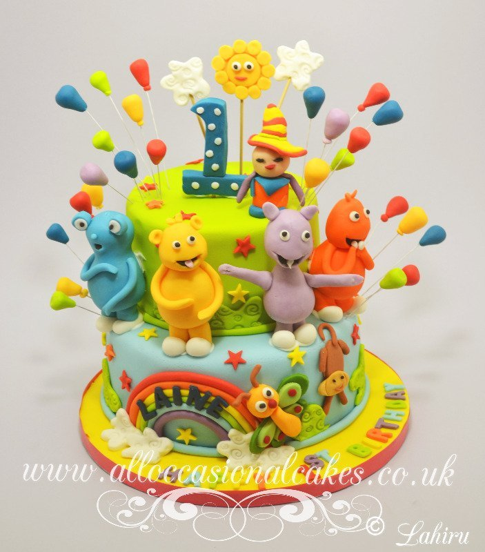 baby tv theme birthday cake